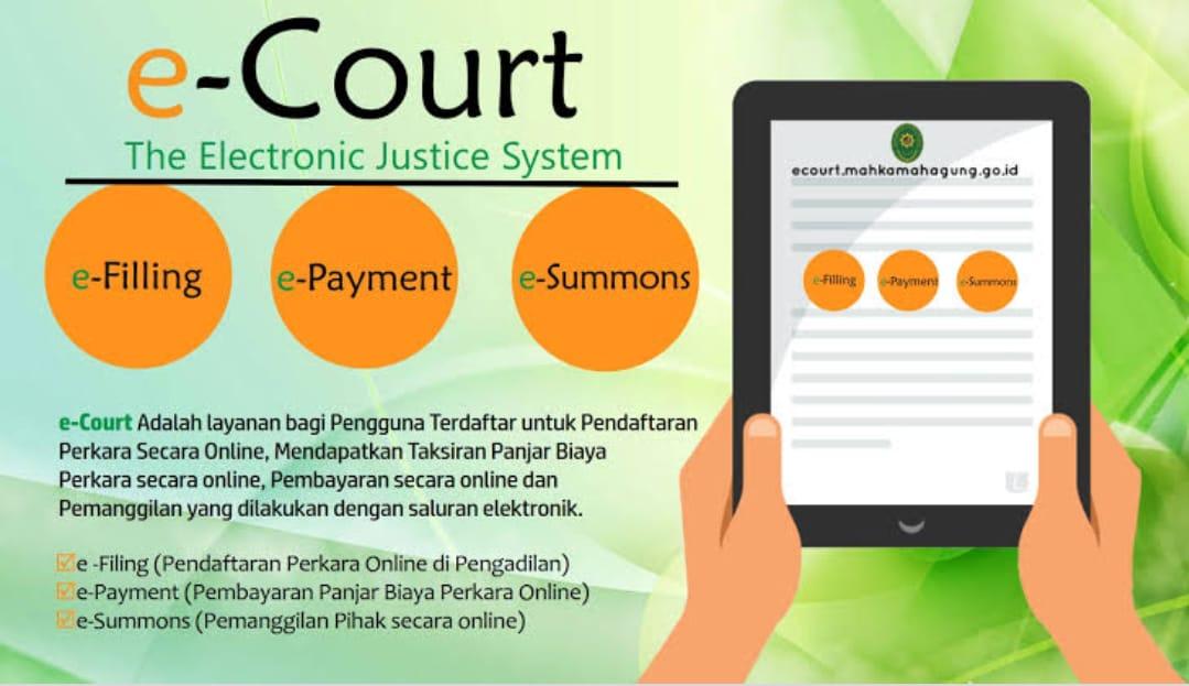 HINGGA AKHIR JULI 2019 E-COURT MAHKAMAH AGUNG DI PA KOLAKA TERIMA 16 PERKARA